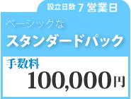 スタンダードパック 手数料100,000円